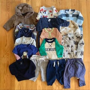 0-3 month boy cool weather lot